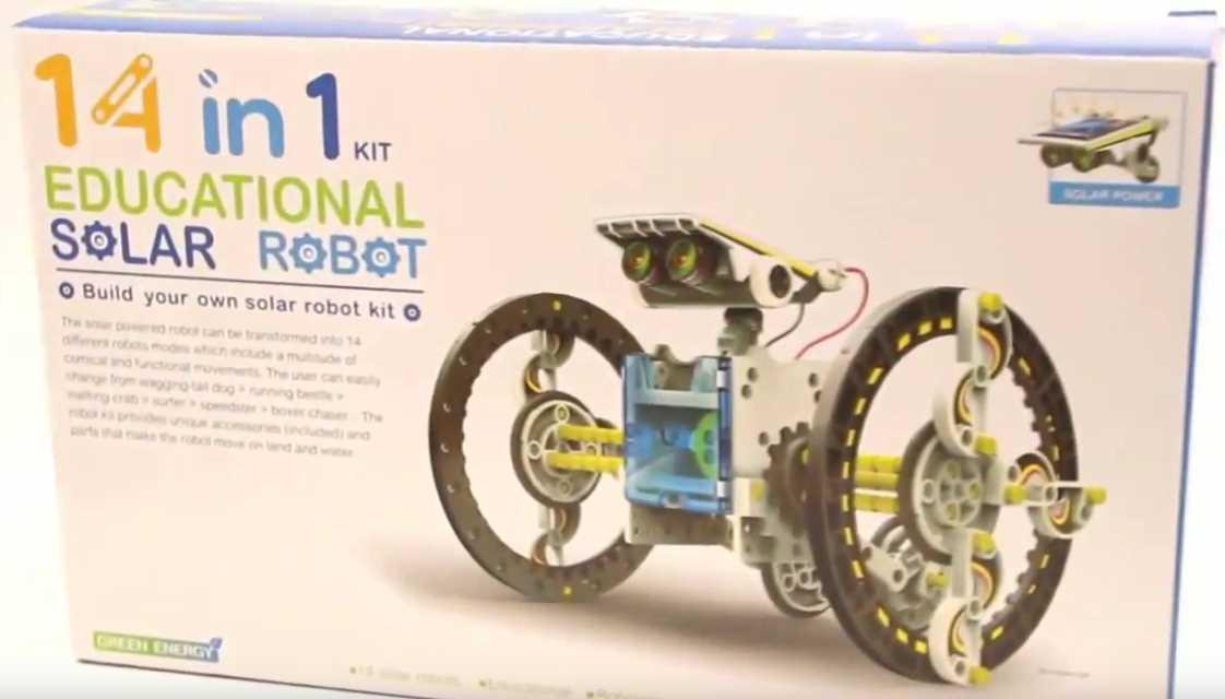 Робот конструктор на солнечной батарее