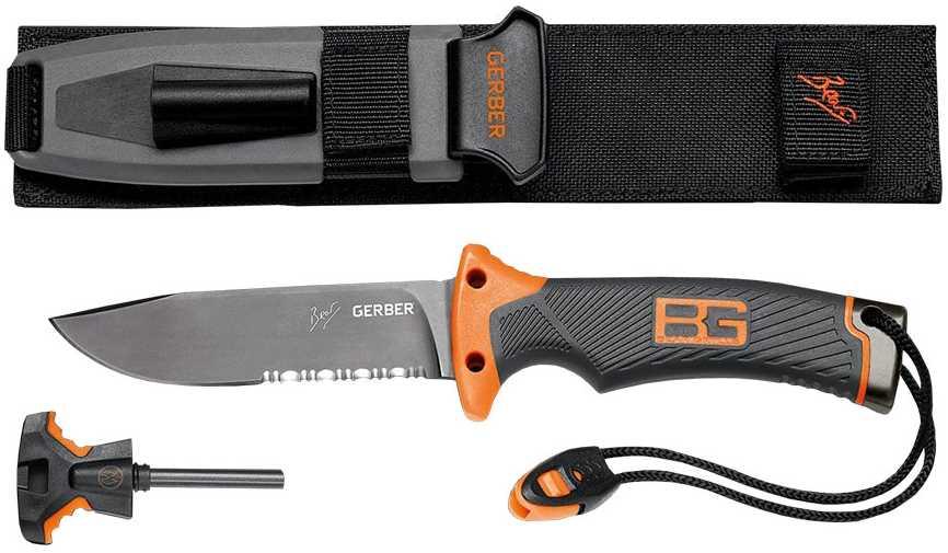 Бинокль Canon и нож Gerber Bear Grylls