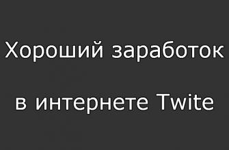 Хороший заработок в интернете Twite