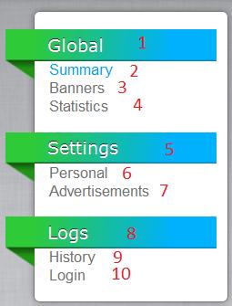 Разбор первого блока с меню и вкладками