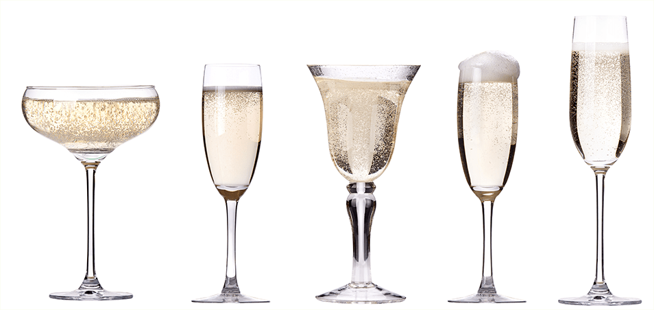 Шампанское - как выбрать бокалы под игристый напиток